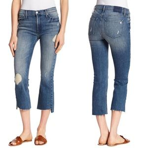 Black Orchid Cindy Slant-Fray Hem Jeans New